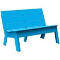 Muebles de exterior fiberland for Bancas de madera para jardin