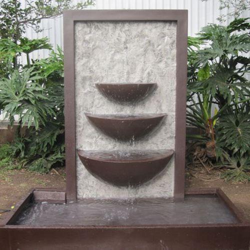 Coreana fuentes de fibra de vidrio fiberland - Fuentes de pared de piedra ...