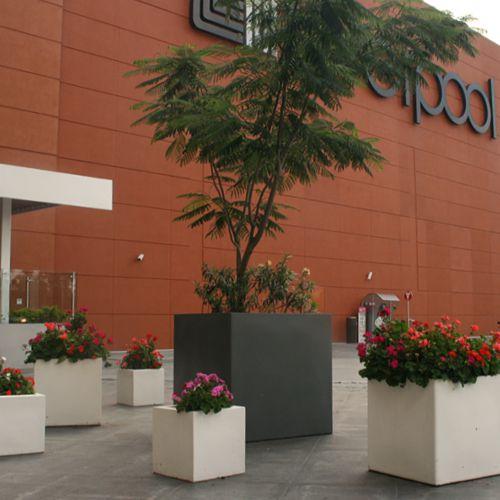 Jardineras macetas de fibra de vidrio minimalistas - Macetas minimalistas ...