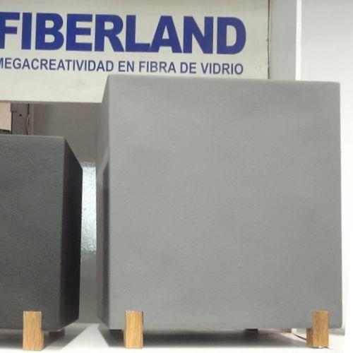 Eleva macetas de fibra de vidrio fiberland - Maceta fibra de vidrio ...