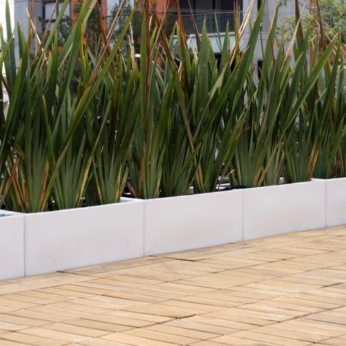 Jardineras rectas macetas de fibra de vidrio fiberland Plantas jardineras exterior