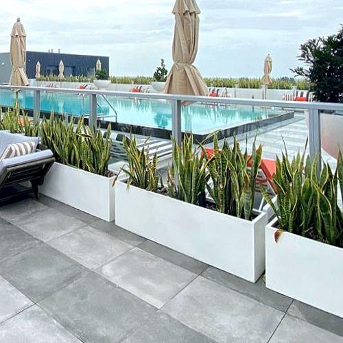 Jardineras rectas macetas de fibra de vidrio fiberland - Jardineras para interiores ...