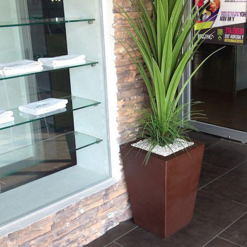 Vasos cuadrados macetas de fibra de vidrio fiberland - Macetas para plantas de interior ...