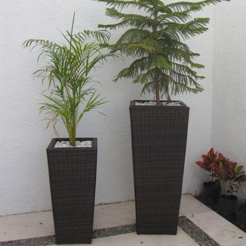 Malasia macetas tejidas fiberland - Macetas para plantas de interior ...