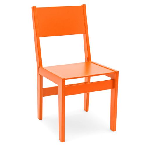 Sencilla Silla Alfresco en color naranja
