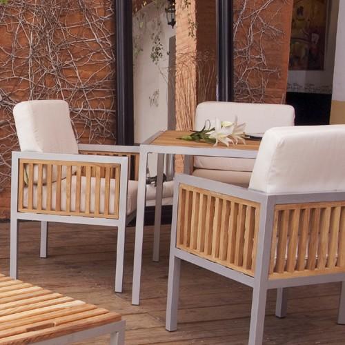Ibiza aluminio muebles de exterior fiberland for Muebles de exterior mexico