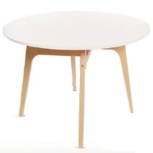 mesa redonda isla para exterior en color blanco