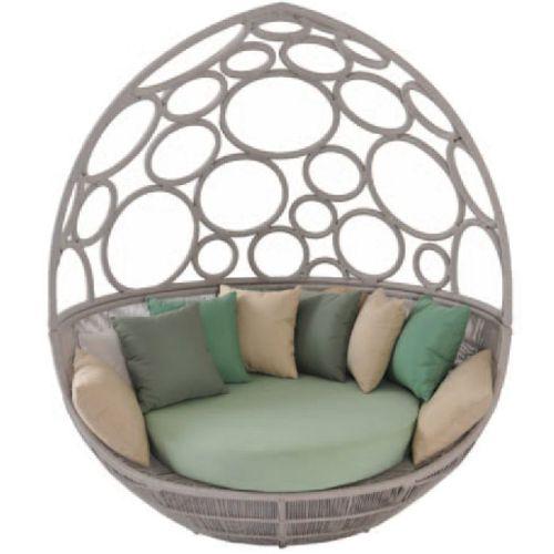 Muebles de jardin de fibra sintetica fiberland - Muebles de mimbre para jardin ...