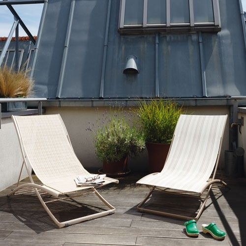 Roof Garden con sillas de playa Plein Air de Fermob