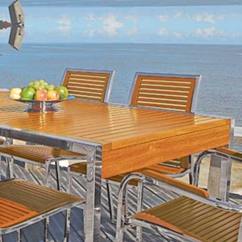 Plus inox muebles de exterior fiberland for Muebles en acero inoxidable bogota