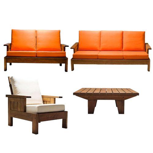 Salas de exterior fiberland for Bar de madera para sala